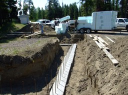 The footings are in