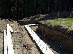 North Wall Footings